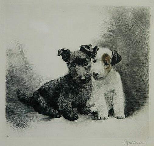 MEYER-EBERHARDT, Kurt (1895-1977) Two Scotts