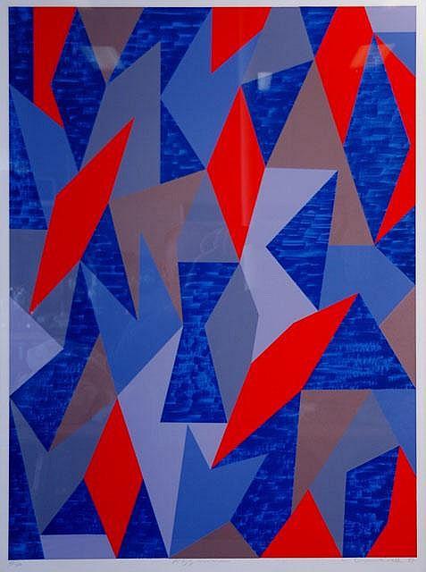 DUMBRELL, Lesley (b.1941) 'Azzurum,' 1987. S/Print