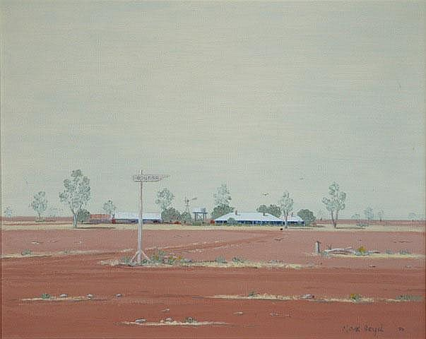 BOYD, Max 'Sign Post West II,' 1980. Oil on Canvas
