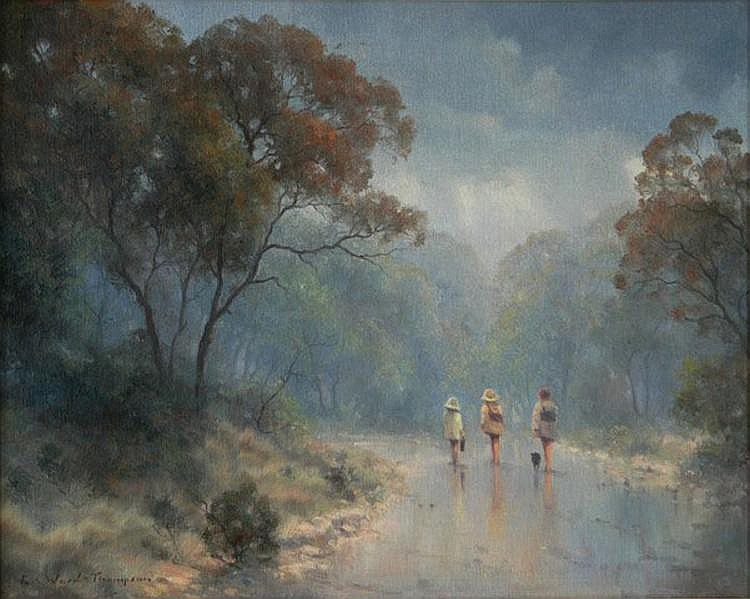 WARD-THOMPSON, Ramon (b.1941) 'The Wet Road,