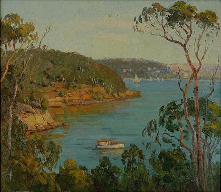 LANGKER, Erik (1898-1982) Quiet Bay, Sydney.