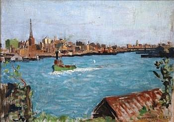 CARTER, Norman (1875-1963) Darling Harbour Oil on