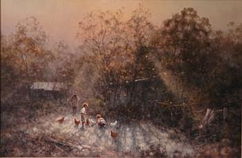 THOMPSON, Ramon Ward (b 1941) Autumn Morning,