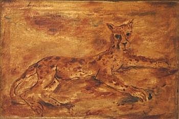 LYMBURNER, Francis (1916-1972) Reclining Leopard