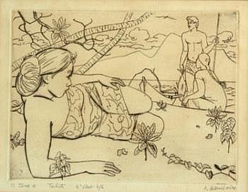 BOULLAIRE, Jacques (1893-1972) o tara e, Tahiti