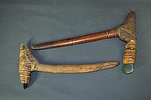 3 PNG Adzes. Cane bound stone cutters, two