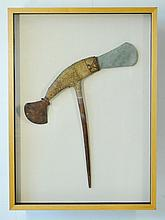 PNG Stone Axe. Finely bound, double ended axe with