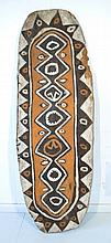 West Papua Asmat War Shield. Relief carved pattern