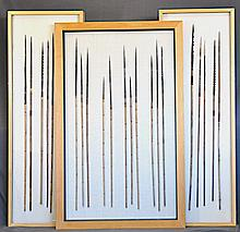 Assortment PNG Spears. Displayed in 3 glazed