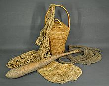 11 Various PNG Domestic Items. Decorated bamboo