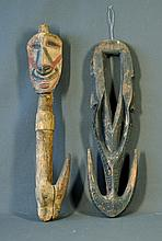 2 Various PNG Food Hooks. Loop form with incised