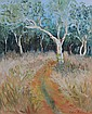 PERCEVAL, Celia (b.1949) Forest Track Oil on