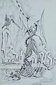 PINS, Judith  'Captive,' 1968.  Pen & Ink  26x18cm
