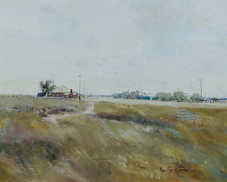 CONNOR, Neville (b.1939)  'West Hay'  Oil on Board  60x75cm