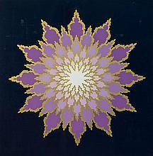 GRAHAM, Geoffrey (1911-1986) 'The Thousand Petaled Lotus,' 1983. S/Print 22/85 79x79cm