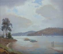 LANGKER, Erik (1898-1982) - Harbour Scene with Jetty