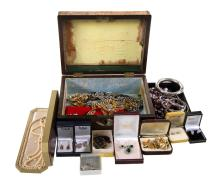 Box of Var Costume Jewellery