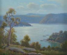 LANGKER, Erik (1898-1982) - 'Afternoon Pittwater'