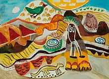 NOBLE, Jill (b.1962) On the Oodnadatta Track, 1986. Exhibited 'Chandl