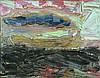 BROWN, Bill (b.1945) - 'Heading North (Seascape),' 1989. Unsigned. Exhibited Macquarie Galleries Oct-Nov, 1989, Cat #7 (label verso). Estate J R Gibb., Bill Brown, Click for value