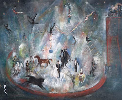 Curt Echtermeyer (1896-1971) Zirkus - buntes