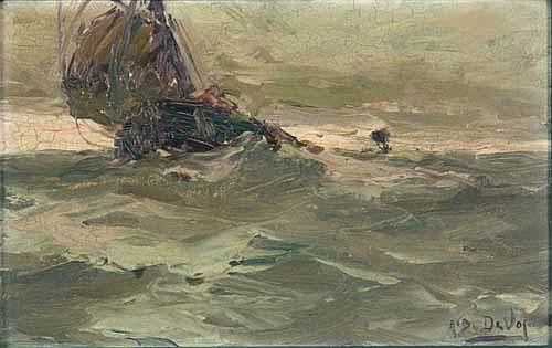 Albert Isidore Devos, attr. (1868-1950) Stürmische