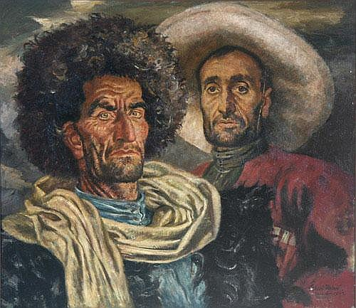 Gisbert Palmié (München 1897-1986 Murnau) Bildnis