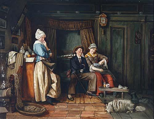 Carl Fey (Düsseldorf 1867-1930)Eifersucht. Schwed