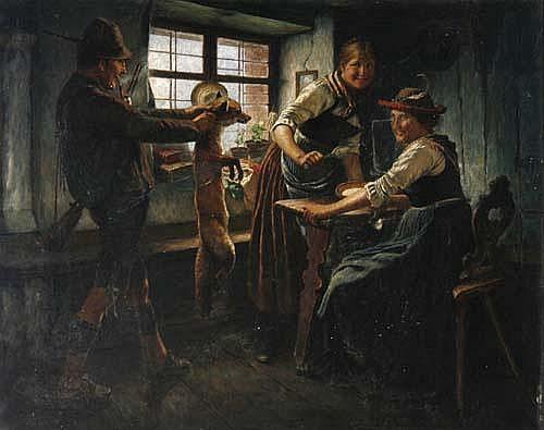 Maximilian Wachsmuth (* 1859)Bauernstube mit
