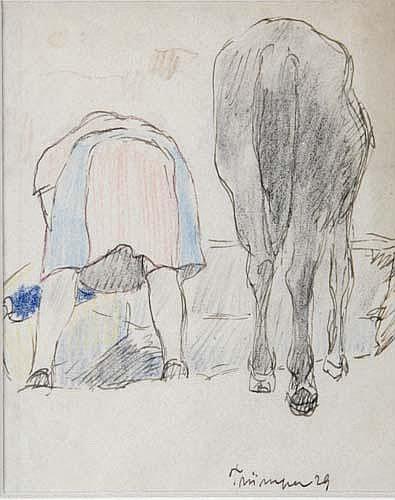 August Trümper (* Altona 1874)Frau und Pferd von