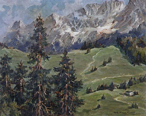 Ria Picco-Rückert (Nürnberg 1900)Gebirgslandschaft
