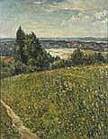 Albert Spethmann (1894-1986) Blühende Wiese an der