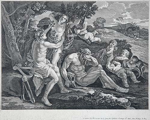 Francois Chauveau (Paris 1613-1676 Paris) Daphné