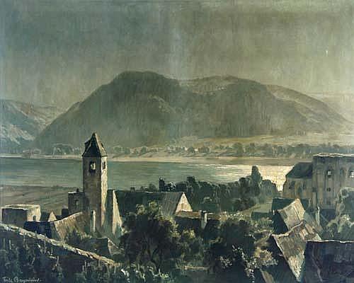 Fritz Bayerlein (Bamberg 1872-1955) Mondnacht an