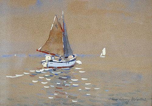Otto Lang-Wollin (* Kassel 1881) boote auf dem