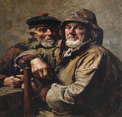 Alois Boudry (1851 Les amis jurés, zwei Fischer,