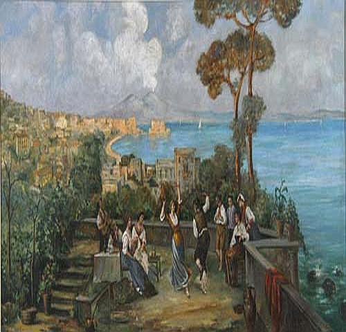 Carlo Ciappa Blick auf den Golf von Neapel, im
