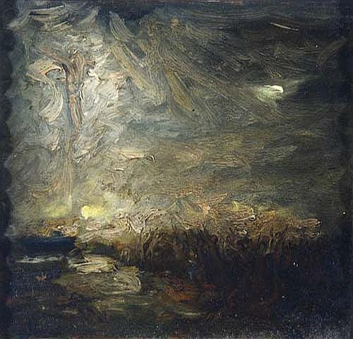 Rudolf Hesse (Saarlouis 1871 Vision - Golgotha,