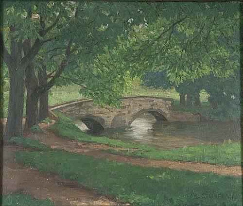 Karl Steiner (* Zürich 1875) Flusslandschaft mit