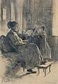 Eugen Kirchner (* Halle/S. 1865) Intérieur mit, Eugen Kirchner, Click for value