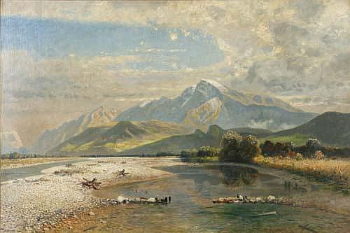 Eduard Gehbe (1845-1933) Der hohe Göll, 1904,