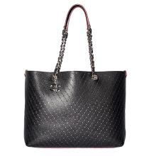 CHANEL PERFORATED LARGE SHOPPING TOTE 30CM BLACK