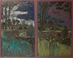 Brian Bourke HRHA (b.1936) Two Landscapes, Early