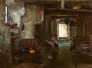 Henry Jones Thaddeus RHA (1859-1929) A Breton
