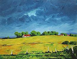 "Michael Flaherty (b.1950) ""Red Barn, Ballyguinn"""