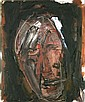 Basil Blackshaw HRHA RUA (b.1932) BROWN HEAD Oil