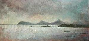Peter Pearson (b.1955) Ships Sheltering, Dublin