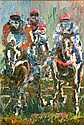 Liam O'Neill (b.1954) Hurdlers details Arcylic on, Liam O'Neill, Click for value