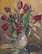 Marjorie Henry RUA 1900-1974 TULIPS Oil on board,, Marjorie Henry, Click for value