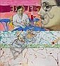 Micheal Farrell 1940-2000 JOYCE AND PICASSO AT, Micheal Farrell, Click for value